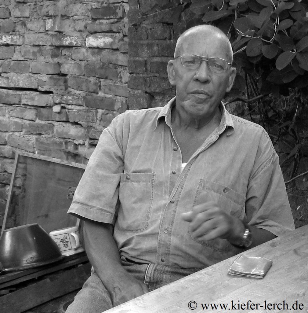 Kiefer-Lerch in seinem Atelier